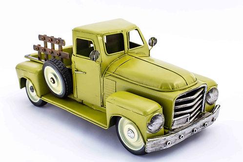 """Green Metal Truck 15""""x6""""x5"""""""