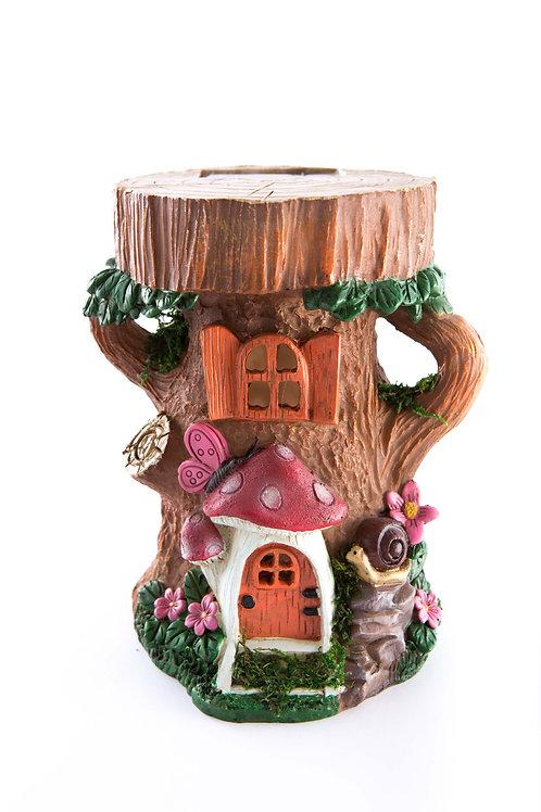Stump House w/ Mushroom Door