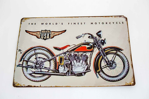 Motorcycle Metal Sign