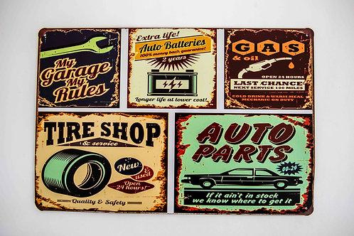 Metal Signs Vintage Wall Plaque