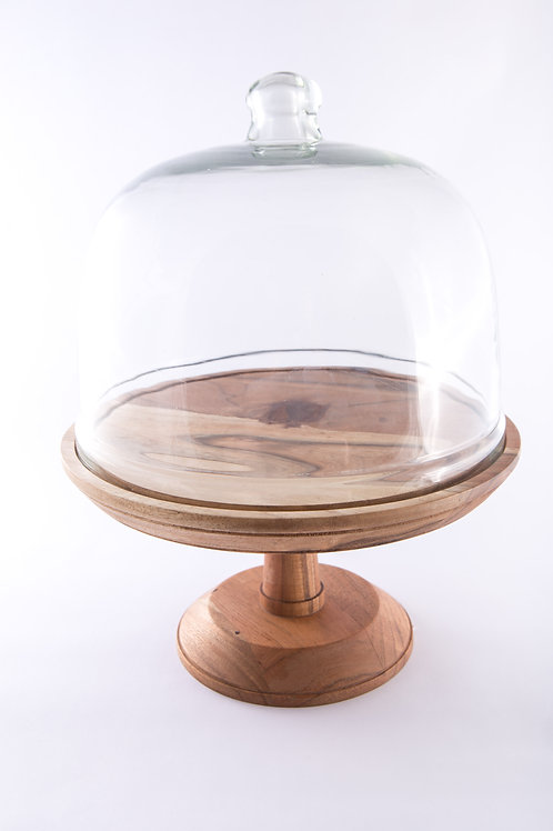 Wooden Cake Stand & Dome
