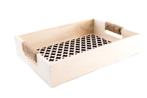 Wood Tray withTrellis Bottom