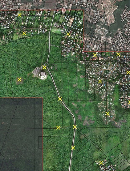 Relevé topographique par photogrammétrie en Guyane, Martinique et Guadeloupe