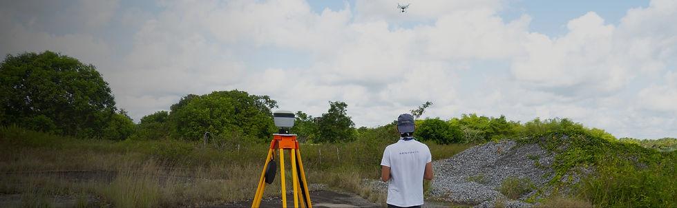 Mission d'imagerie photogrammétrie avec drone et pilote drone en Guyane