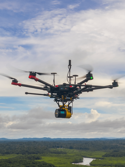Solution LIDAR embarquée sur un drone Sentinel