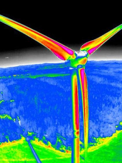 Inspection thermique d'éoliennes en Guyane et Guadeloupe