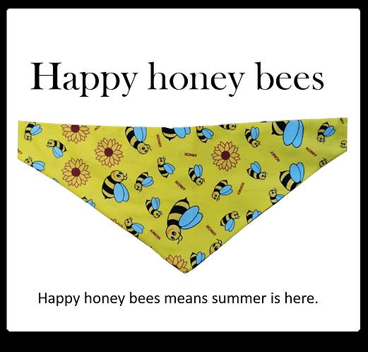 Bandana - Honey bees on Yellow
