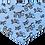 Thumbnail: Bandana - Zebra on blue