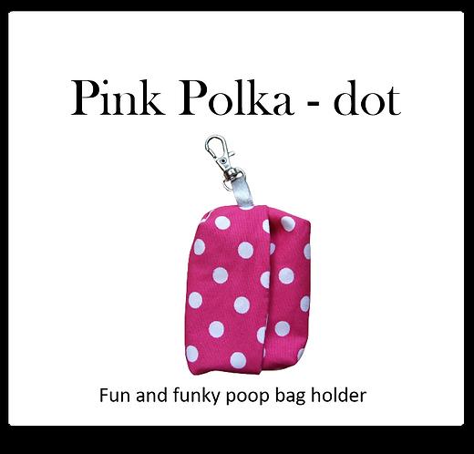 Poop bag holder - Pink Polka - dot