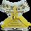 Thumbnail: Harness 01 - Zebra print in yellow