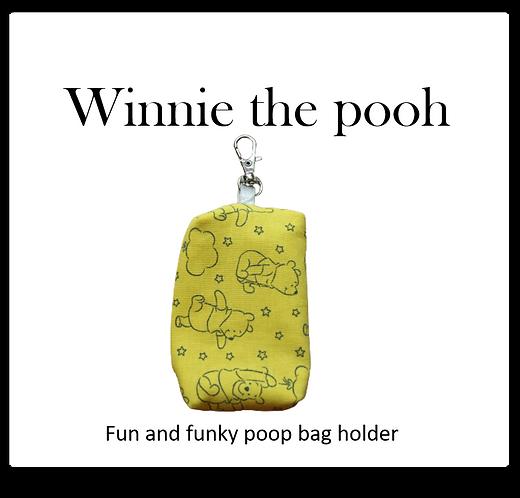 Poop bag holder -Winnie the pooh on Yellow