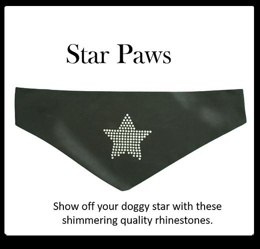 Bandana - Rhinestone Star on black