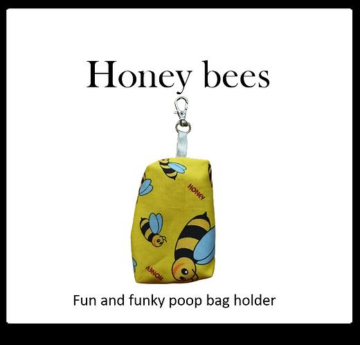 Poop bag holder - Honey bees
