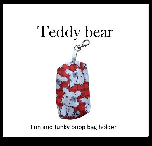 Poop bag holder -Teddy bear