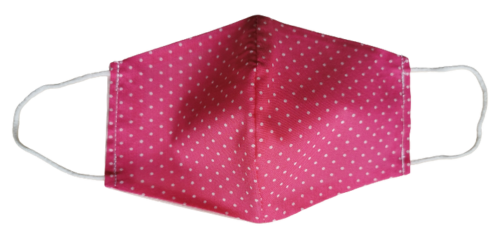 Face Mask -  Polka dot on pink