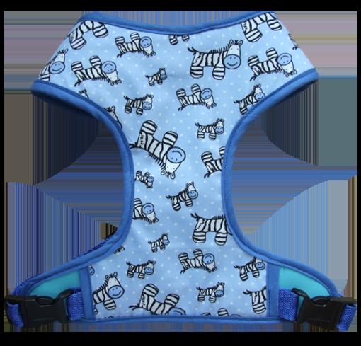 Harness 01 - Zebra print in blue