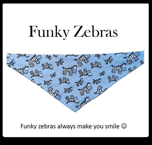 Bandana - Zebra on blue