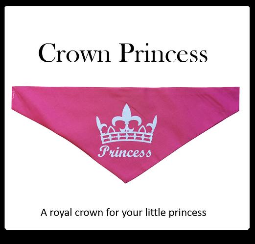 Bandana - Princess and Crown on pink