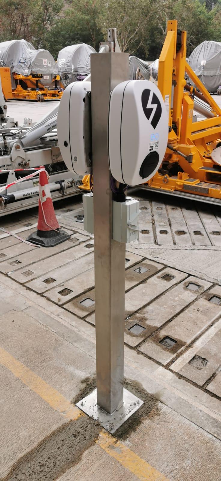 Double Post installation