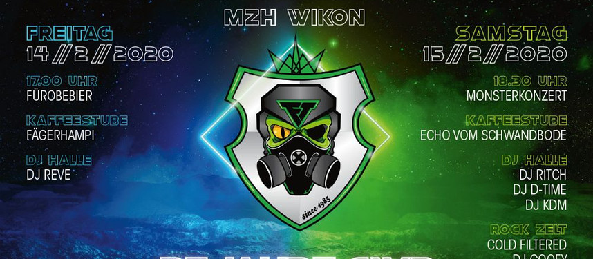Nächster Gig - SA 15. Februar 2020 Pflotschmusball MZH Wikon