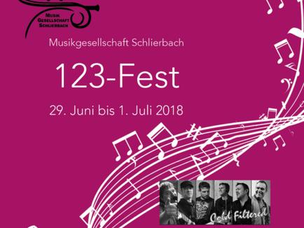Nächster Auftritt - SA 30.06.2018 123-Fest MG Schlierbach