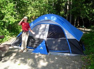 Tent at River site
