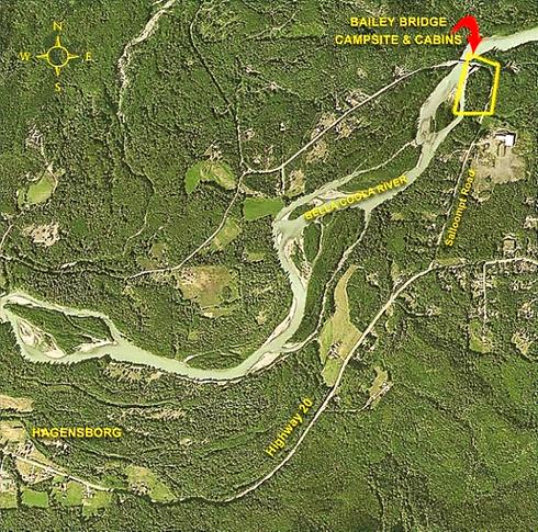 Airiel map view of Bailey Bridge site