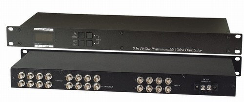 8 Inputs to 16 Outputs Programmable Video Distribu