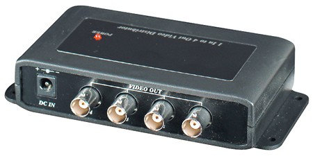 1 Input to 4 Outputs Video Distributor
