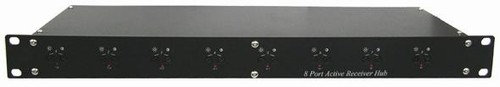 8 Port Active Receiver Hub In 1U Rack Mounting Pa