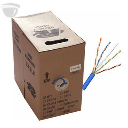 500 FT BLUE CAT 6 COMMERICIAL GRADE NETWORK CABLE