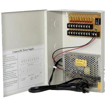 Output: 12VDC, 18 port / 20 amp, Fuse, UL Listed