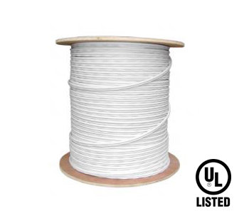 500 FT WHITE COMMERCIAL GRADE SOLID COPPER SIAMESE