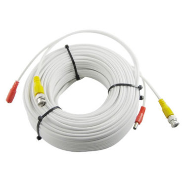 100 FT PERMADE RG59 COMBO WHITE COLOR CCTV CABLE