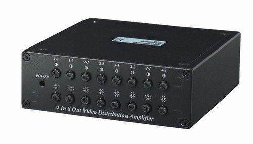4 Inputs to 8 Outputs Video Distributor - Amplifi