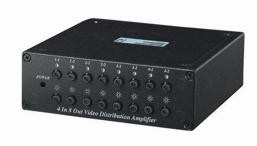 4 Inputs to 8 Outputs Video Distributor - Amplifi