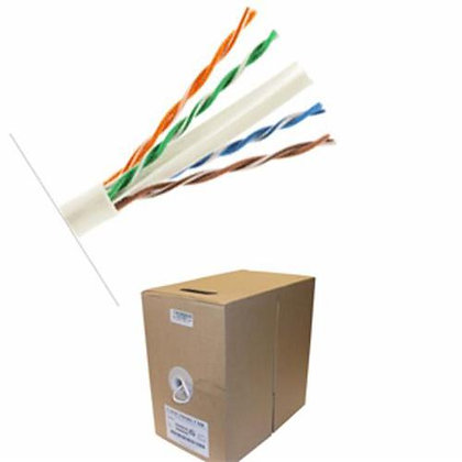 500 FT WHITE CAT6 COMMERCIAL GRADE NETWORK CABLE