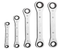 Klein Tools 5-Piece Ratcheting Box Wrench Set