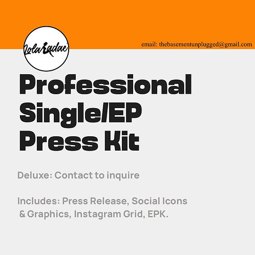 Professional Press Kit -Deluxe
