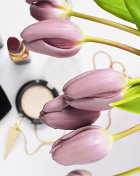 Maquillage et tulipes
