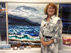 Deanne at Ocean Blue Gallery opening