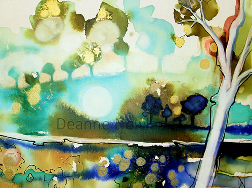 """""""By the river"""" Limited Edition 1/50 Giclee fine Art Print"""
