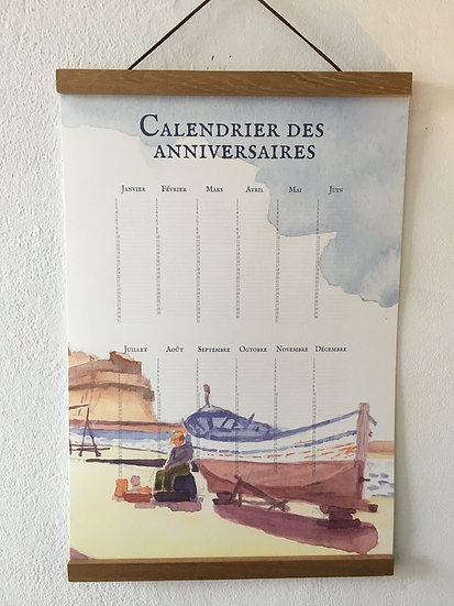 Calendrier aquarelle Pointu au Port Saint Louis