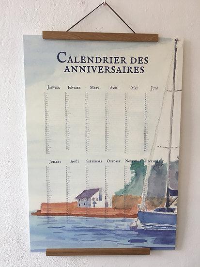 Calendrier aquarelle Apéritif à Port Manec'h