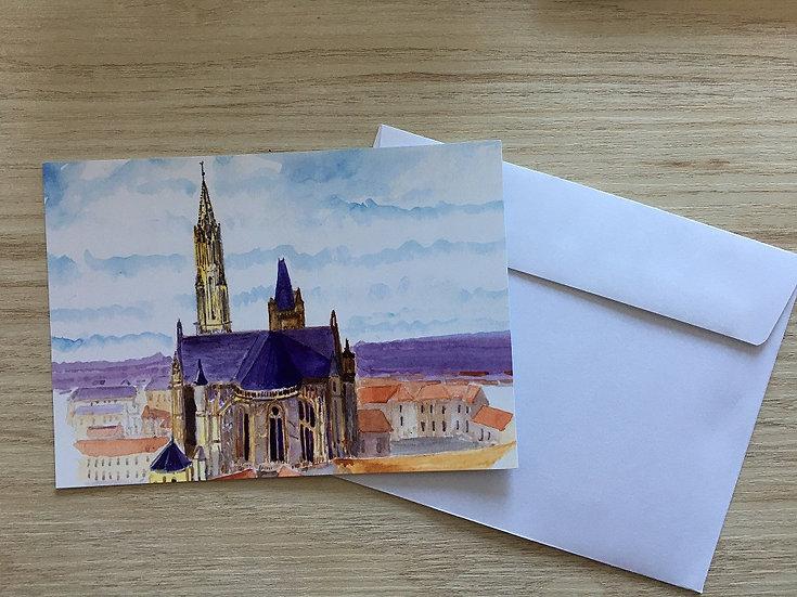 """Lot de 5 cartes postales """"La Cathédrale de Senlis"""""""