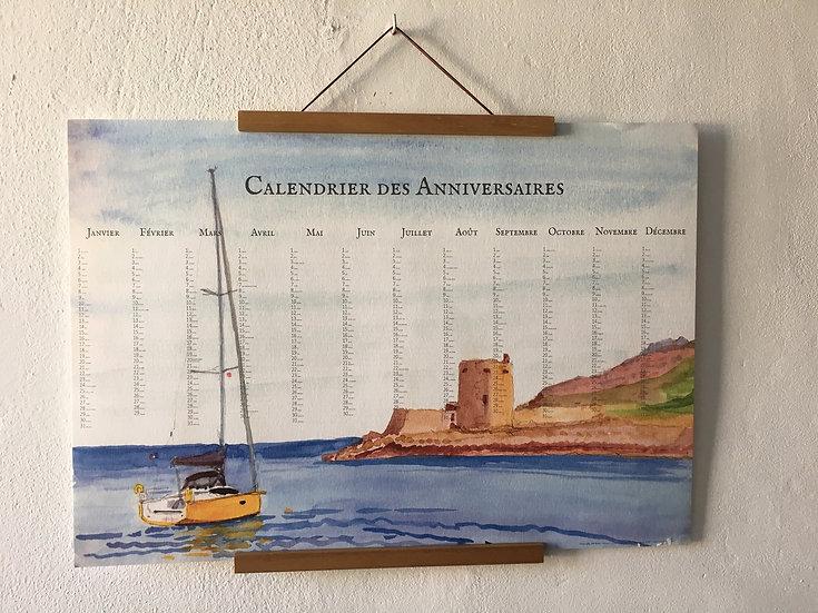 Calendrier aquarelle Départ en mer