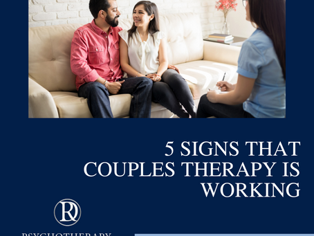 5 Signs That Couples Therapy is Working
