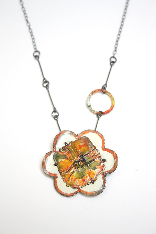 Bandhej Saffron Necklace