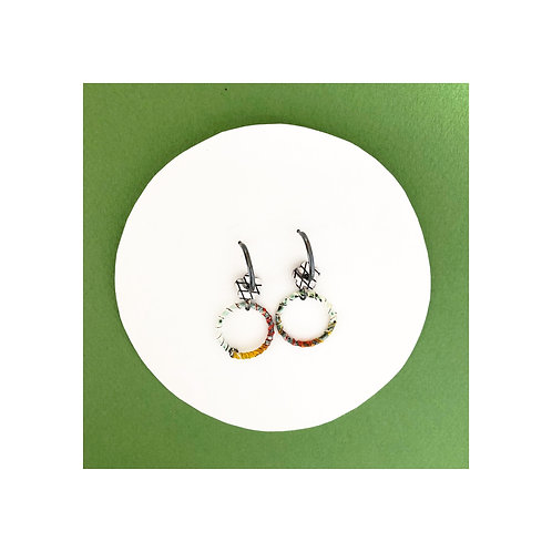 Hoop style charm earrings