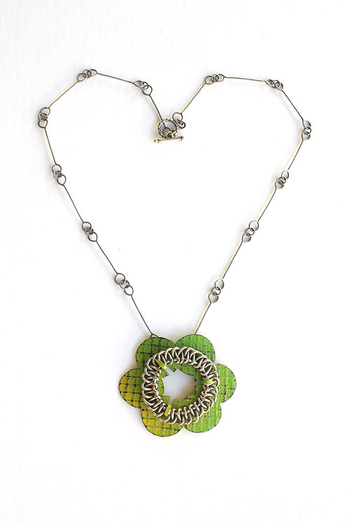 Yellow-Green 'Phool' Necklace